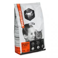 Amity Premium Gato - Salmão e Arroz Esterilizado