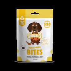 Bites PURE PALEO (Laranja, Amêndoas & Pato do Campo) com Super SEMENTES & CURCUMA para cão